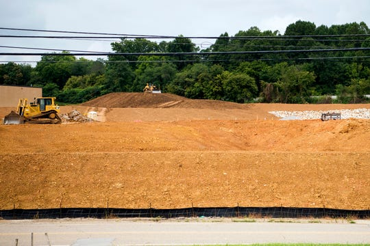 A new warehouse will be built at 1601 Third Creek Road in Knoxville, where work is underway Wednesday, August 14, 2019.