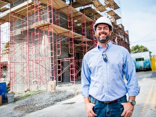 Joshua D. Wright, president of Architects Wright, at the Knoxville Overlook construction site in downtown Knoxville on Wednesday, August 14, 2019.