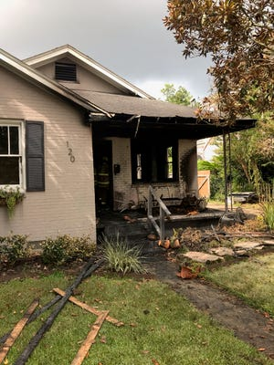 A fire destroyed the house of Frances and Major Handy on Saturday.