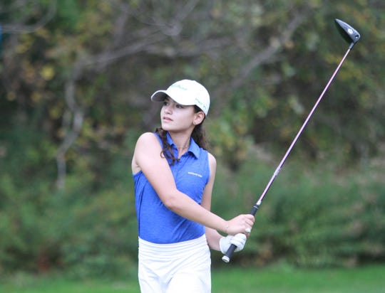 Violet Sinishtaj shot 81 to lead Hartland to a second-place finish in the Highest Honors Invitational at Huron Meadows Metropark.