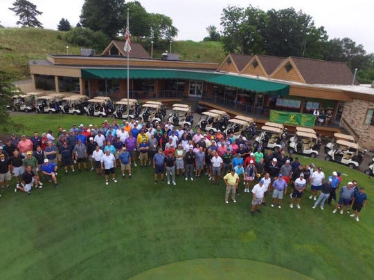 More than 150 golfers supported retired coach Jeff Minock's charity to help more kids afford junior sports at a golf outing at Chemung Hills Golf & Banquet Center, Aug. 16, 2019.