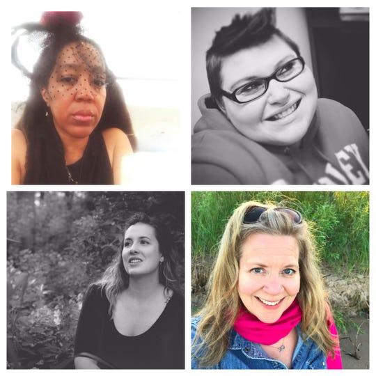 From top left, clockwise: Teka Lark, Lillian Lamoreux, Jessica Lyn Van Slooten and Amanda Linsmeier.