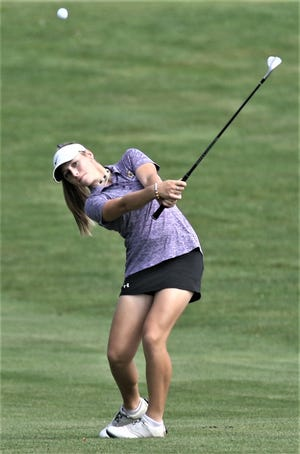 Mandy Ruminski is playing in her third state tournament this weekend, but first for Lexington.