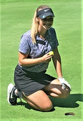 Lexington's Alyssa Takos aced No. 7 at Willow Creek in Vermilion during a match last week. It was her first hole-in-one.