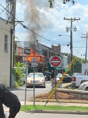 A fire was extinguished in the 400 block of Main Street on Aug. 19, 2019.