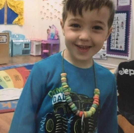 Owen Kleiwerda, pictured here at Milestones Academy in North Haledon, was 4 years old when he was killed by a fallen tree.