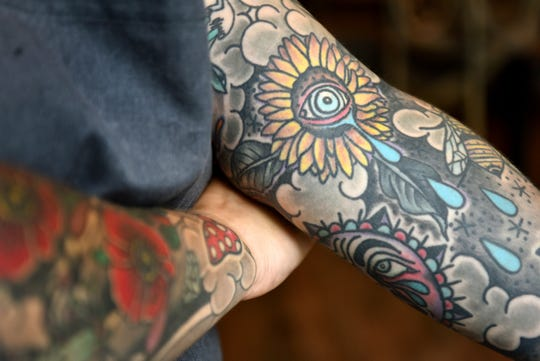 Martyna Krowicka is Chef d'Cuisine at Felina Restaurant and Bar in Ridgewood. Krowicka has two full sleeve tattoos and got her first tattoo when she was sixteen years old. Krowicka displays her tattoos on August 14, 2019 at Felina.