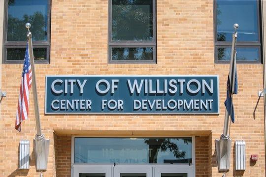 The City of Williston Center for Development building is pictured in Williston, North Dakota on Thursday, Aug. 15, 2019.