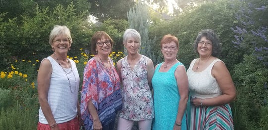Soroptimist International of Las Cruces new board of directors from left to right, Joan Dormody, Lynda Hayes, Jan Brydon, Mary Brallier, Margo Bencomo and Nancy Marsh (not pictured).