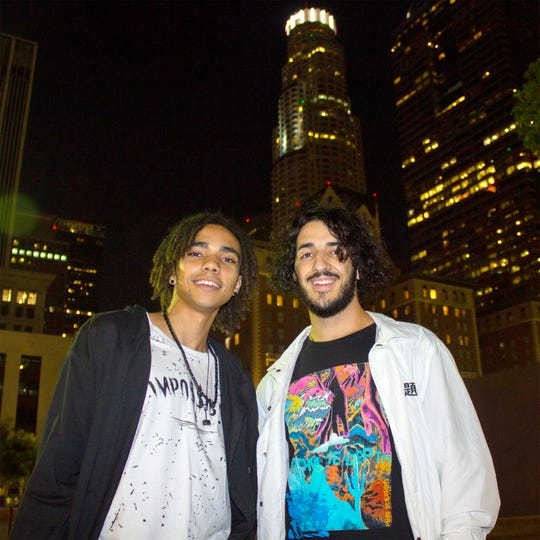 "New Mexico State University's ""Team Naray,""  Torbyn Nare, left and Jonah Kennon, right, have been working with the NMSU Pan American Center and Sight & Sound Events to market the upcoming Summer Jam at the Pan Am concert. ""Naray"" will perform a set at the concert Friday, Aug. 23."