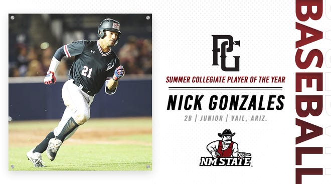 Nick Gonzales returns for his junior season with the New Mexico State baseball team.
