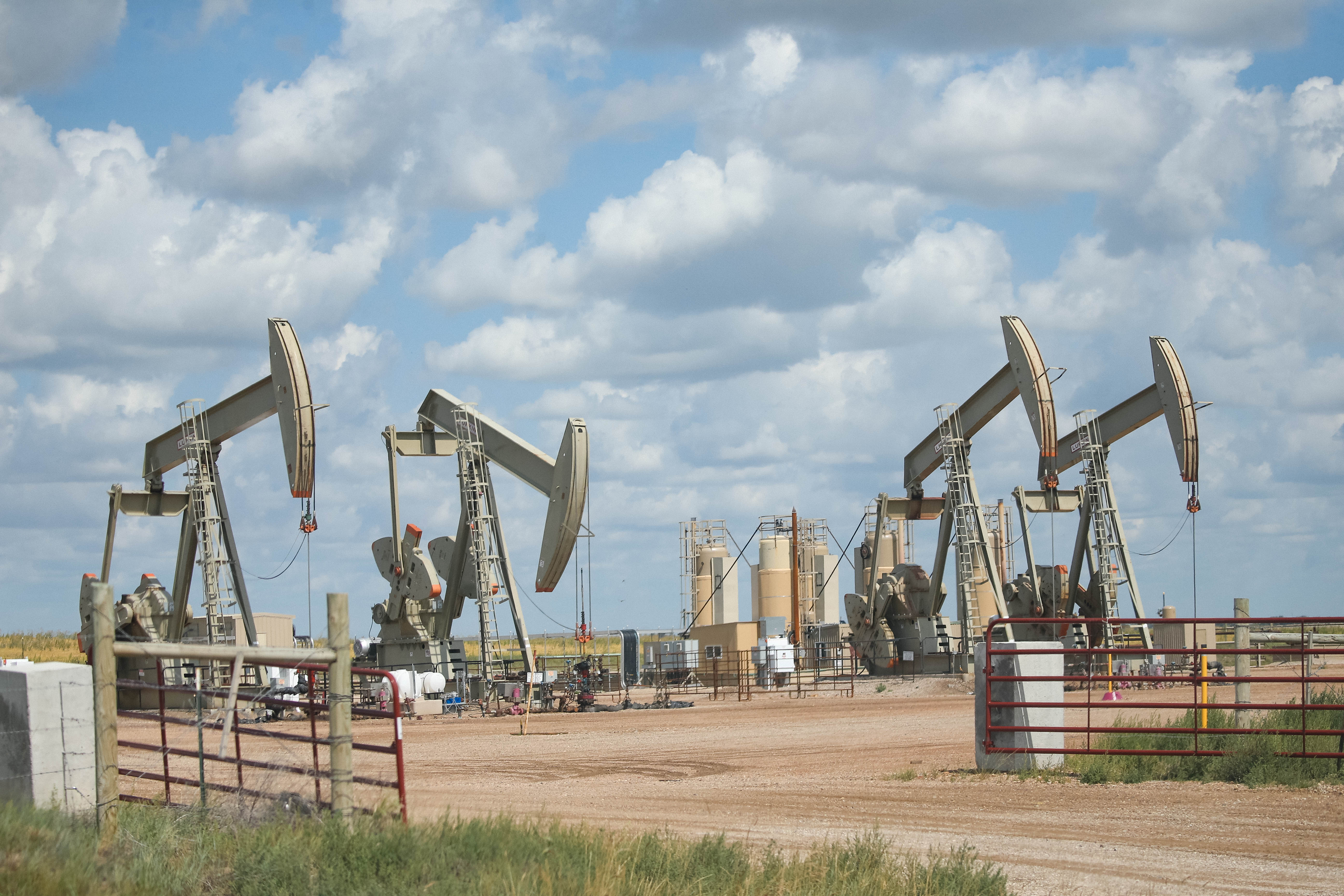 The landscape in Williston, North Dakota is spotted with oil rigs and newly constructed roads. Williston is in the Bakken region, a prolific oil play that has more than 400 injection wells.