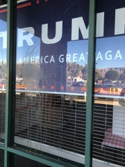 After the Trump Unity Bridge Build the Wall Tour float departed the parking lot of the Republican Headquarters La Quinta on Aug. 18, 2019, the office was egged.