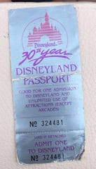 This is the ticket won by Tamia Richardson in 1985, once that Disneyland honored 34 years later.