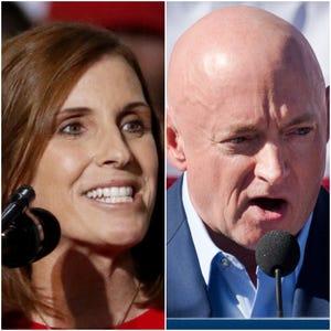 Republican Martha McSally and Democrat Mark Kelly are running for Senate in Arizona.