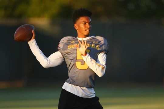 Arizona State quarterback Jayden Daniels and the Sun Devils have some tough opponents on the schedule.