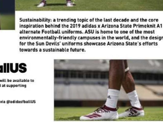 ASU football uniforms: New Adidas 2019 sustainable uniform