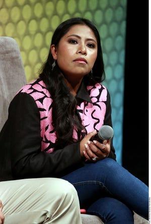Yalitza se solidariza con las protestas en contra de la violencia hacía la mujer y cree que son grupos ajenos al movimiento, quienes cometen actos violentos.