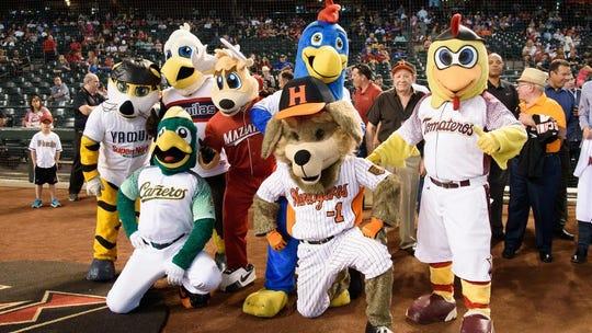 Las mascotas de los equipos de la Liga Mexicana del Pacífico.