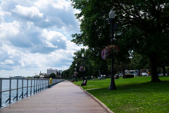 A dedication ceremony is being held for the renovated boardwalk in St. Clair's Palmer Park at 3:30 p.m. Sunday.