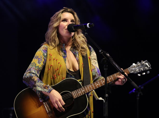 Grace Potter performs on the final day of the 50th anniversary of Woodstock at Bethel Woods Center for the Arts in Bethel on Sunday, August 18, 2019.