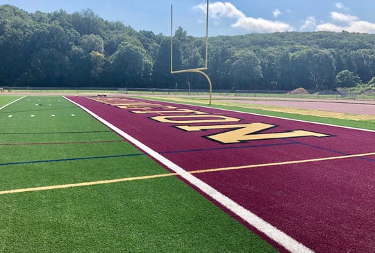 Arlington High School this summer had new turf installed on its playing surfaces, including the football field.