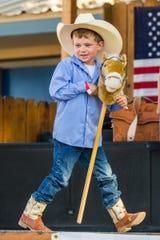 Daniel Watson, 5, participates in the Littlest Cowboy contest.