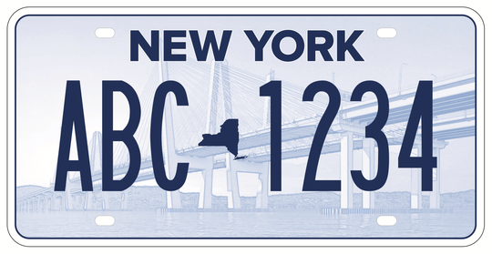 This is one of the five new New York license plates under consideration for use in April 2020. People can vote on which one the state should pick.