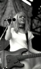 "Kim Gordon  of Sonic Youth writes and rocks. Kim Gordon in a photo from the book ""Girl In a Band"" by Kim Gordon."