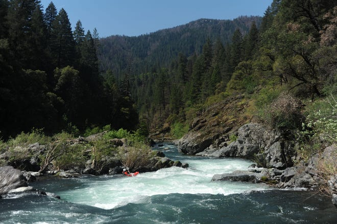 The McCloud River, which flows into Lake Shasta, is at the center of a dispute over raising the height of Shasta Dam.