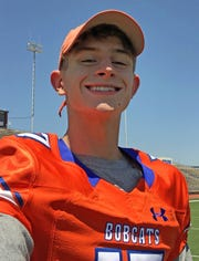 Tanner Dabbert, WR, San Angelo Central, 6-1, 180, Sr. — Dabbert finished as Central's second-leading receiver last year with 46 catches for 543 yards and five touchdowns. He should be quarterback Malachi Brown's go-to target this fall. Dabbert has good size and speed — he was a regional qualifier on the mile relay during track season — to go along with reliable hands.