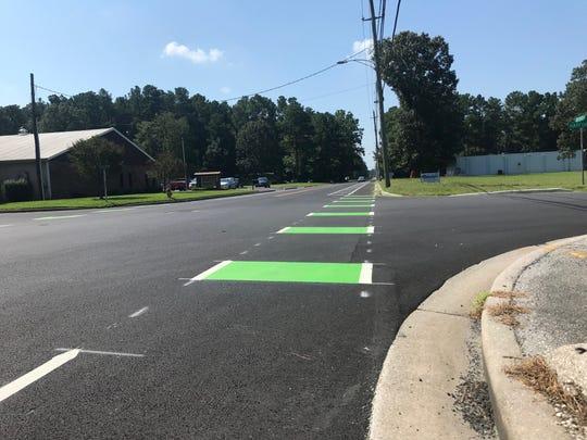 A bike lane sits along Northwood Drive in Salisbury on Aug. 19, 2019.
