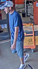 SPD is asking for help in identifying this suspect who reportedly stole various tools from Home Depot on Aug. 2.