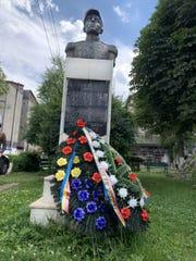Memorial where locals take American visitors in Viseu de Sus.