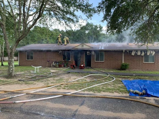 The Tallahassee Fire Department responded to a fire at a Ross Road apartment building at about 9 a.m. Monday.
