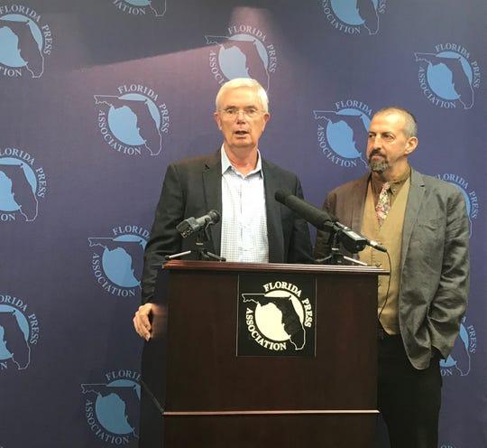 Michael Butler, Longmont, CO chief of public safety and Dan Kahn of Florida Restorative Justice Association, Agusut 19, 2019