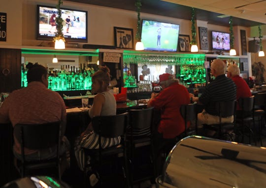 A view of the bar at Lynch's Restaurant in Stony Point Aug. 15, 2019.  Kevin Lynch is a pillar of the community, giving away free meals to financially struggling families, active duty military and more. His philosophy is that they don't serve food, they serve the community.