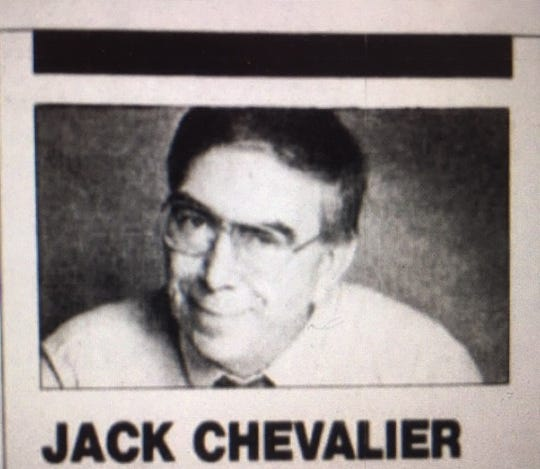 Former News Journal sports editor and columnist Jack Chevalier, who died Saturday at 83.