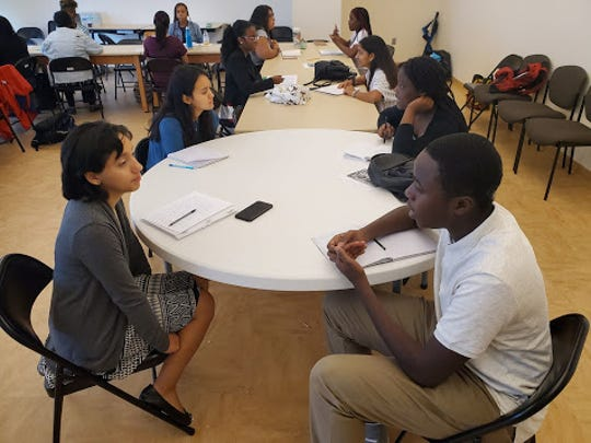 Students work on their advocacy campaigns at DelawareCAN's first Student Voice Week.