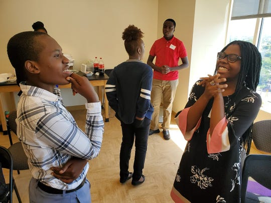 Students discuss their experiences in school at DelawareCAN's first Student Voice Week.