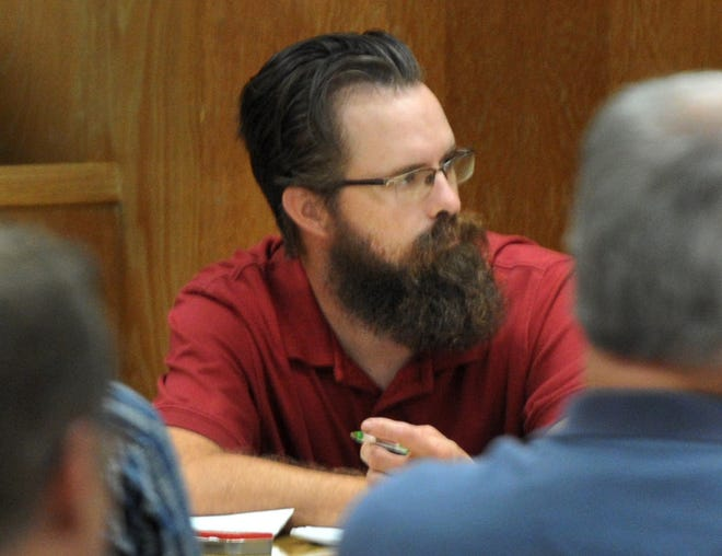 Jonathan Woody listened as the Wichita County District Attorney questioned potential jurors, Monday morning, during the jury selection phase of his punishment trial.
