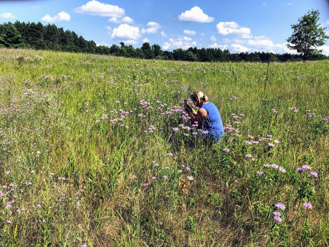 Daughter, Sue captures in image in the Roshara Prairie.