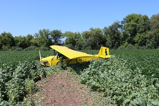 A pilot landed his plane in a field north of the Fort Atkinson airport when he experienced engine trouble on Aug. 19, 2019.