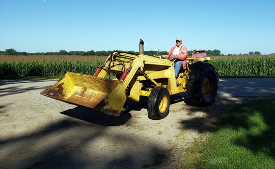 Bob has no need for his cane when driving his tractor, only when he gets off.