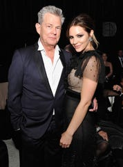 Newlyweds David Foster and Katharine McPhee at Elton John AIDS Foundation Academy Awards Viewing Party on March 4, 2018 in West Hollywood, Calif.