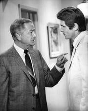 """Robert Young, left, as """"Marcus Welby, M.D.,"""" a popular TV show that premiered in 1969. At right is James Brolin."""