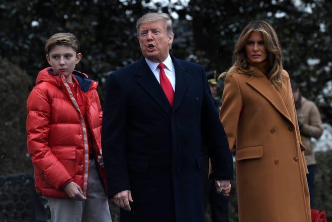 Barron Trump Taller Than Mom In Heels Sporting New Haircut