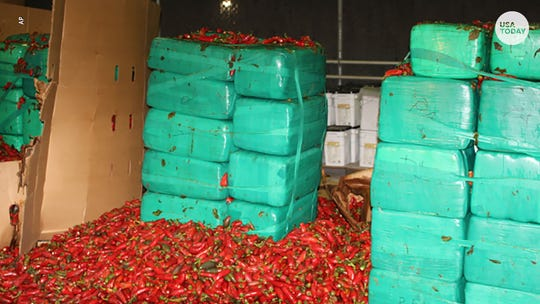 Officials seize $2.3 million worth of marijuana mixed with jalapeño peppers