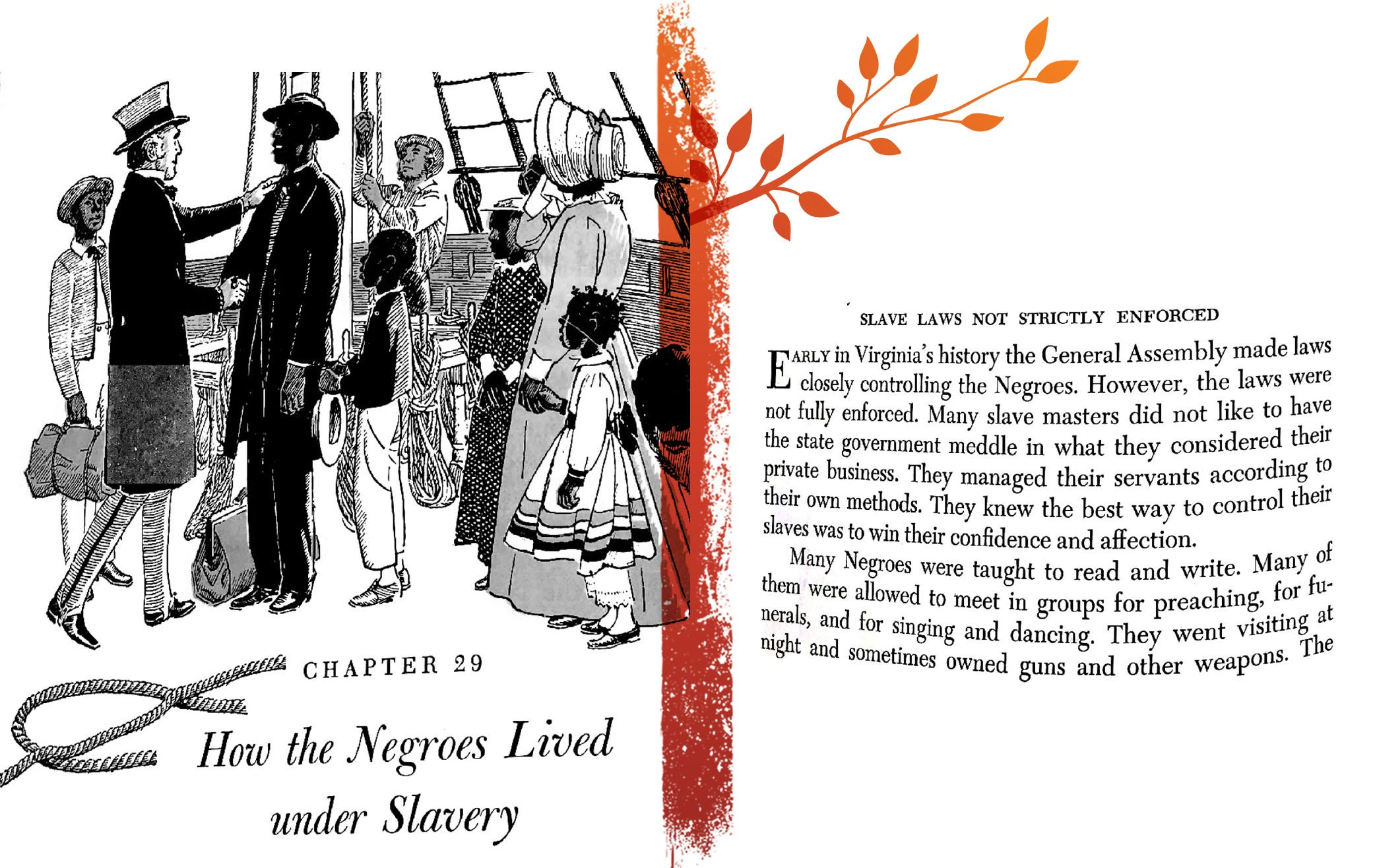 """An excerpt from """"Virginia: History, Government, Geography,"""" published in 1957."""