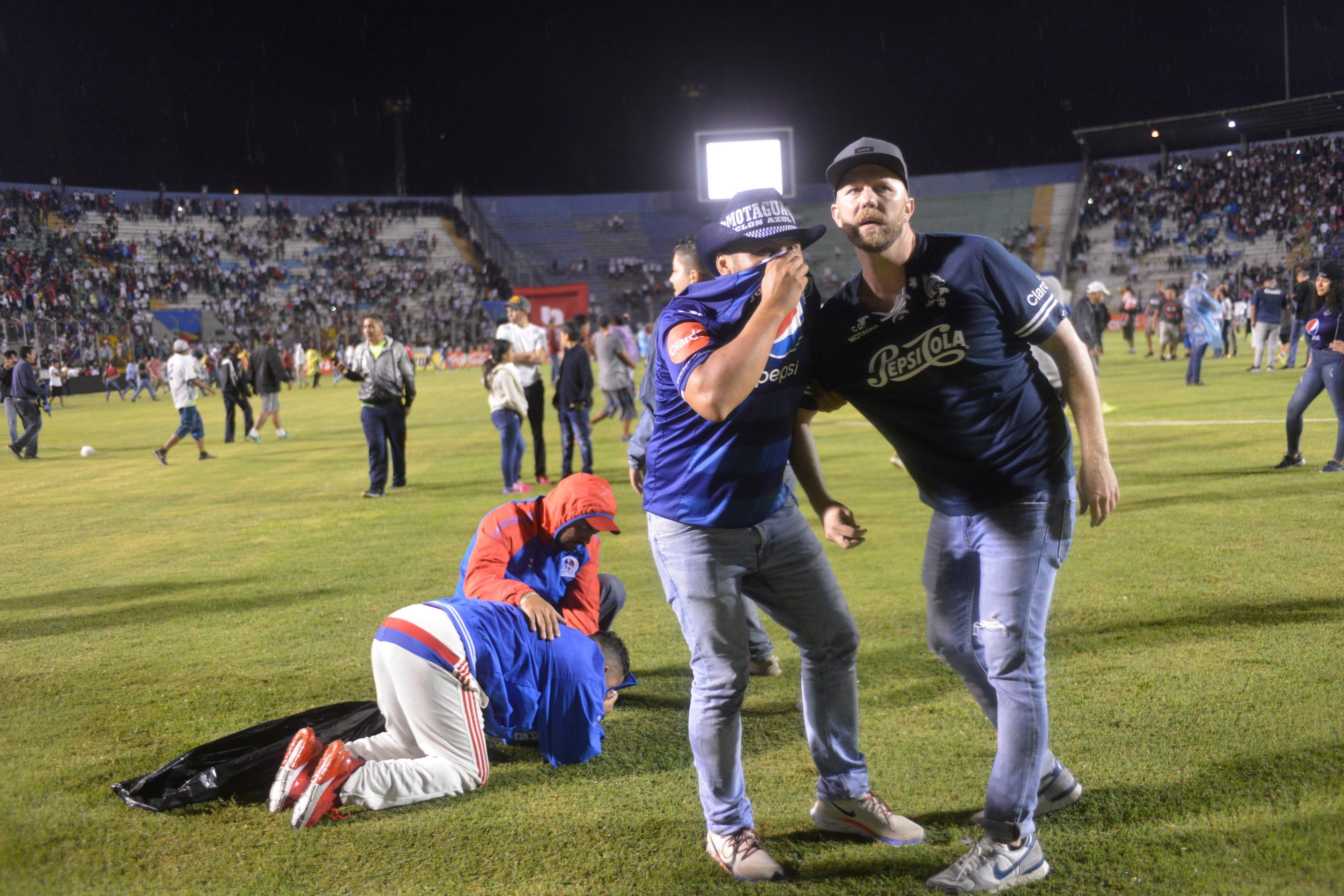 Four dead as rival fans riot at Honduras soccer game